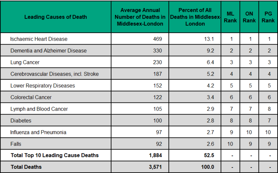 Figure 3.4.1: Leading causes of death