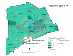 Figure 1.3.3 Population (age 0-19) by dissemination area