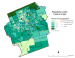 Figure 1.3.5 Population (age 0-4) by dissemination area